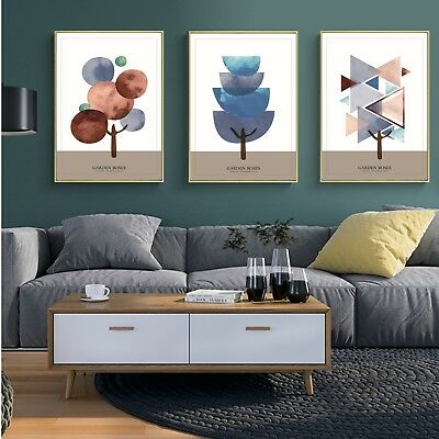 Abstract Art Tree Canvas Poster Fabric Paint Modern Wall Decor No Frame S269