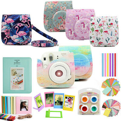 For Fujifilm Instax Mini 9 8 Film Camera Case Cover Bag + Album + 10-IN-1 Kits