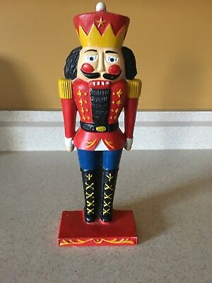 "Vintage Cast Iron NUTCRACKER / DOORSTOP  11"" Tall"