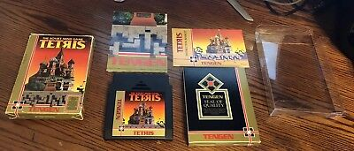 TENGEN TETRIS Complete in box with Manual Nintendo NES Black Game CIB Poster