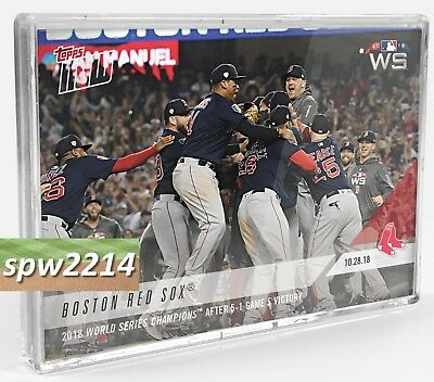 2018 Topps Now Red Sox World Series Game 5 Bundle (9) #951-#959