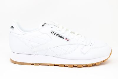 Details about Reebok Classic Leather LS Mens 11 44.5 White Gray Gum Sole BS5080