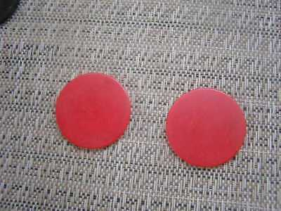 2 RED Bakelite/Catalin Poker Chips for Jewlery Making or crafts