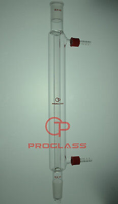 Proglass 24/40 Joint 300mm Glass Liebig Condenser with removable hose connector