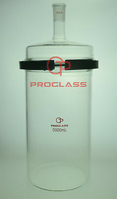 Proglass Glass Separate Flask 5000mL one Neck with Easy Open PTFE Clamp