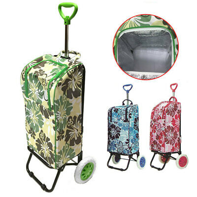 Thermo Cooler Shopping Cart/Trolley Bag Carry Foldable/Insulated Basket /Market
