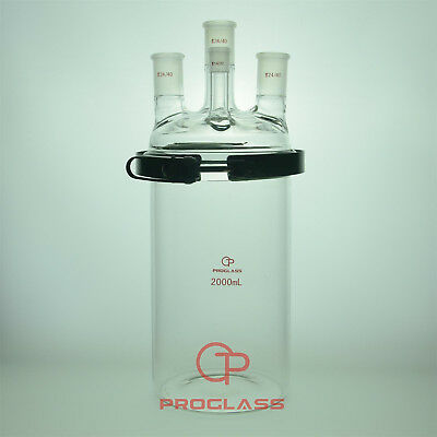 Proglass Glass Separate flask 2000mL four necks with easy open PTFE clamp