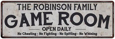 THE ROBINSON FAMILY KITCHEN Personalized Chic Metal Sign 106180039028