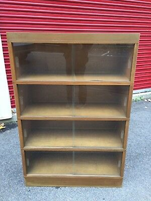MID-CENTURY MCM MODERN NUCRAFT STACKING Barrister BOOKCASE - 4 sections