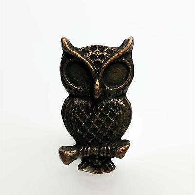Wise Old Owl Cabinet Knobs Furniture Drawer Pulls Cast Iron