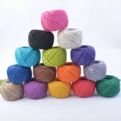 50M Twine Cord DIY/Decorative Handmade Accessory Hemp Jute Rope GiftPacking line