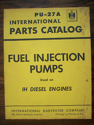 IH FARMALL MCCORMICK International Fuel Injection Pumps Parts Manual