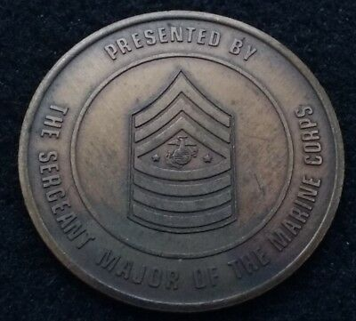 AUTHENTIC Sergeant Major of the Marine Corps SMMC USMC Overstreet Challenge Coin