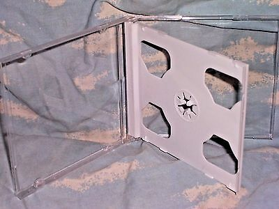 Standard DOUBLE CD Jewel Case Box with White Tray 4-pack Nice Quality NEW