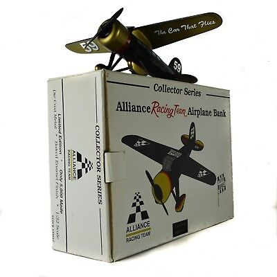 Robert Pressley Driver Nascar Diecast Airplane Plane Bank Model Alliance Team