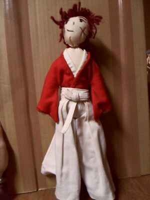 "Rurouni Kenshin Handmade 13"" Plush Doll w/ Yarn Hair Anime Manga Samurai X Japan"