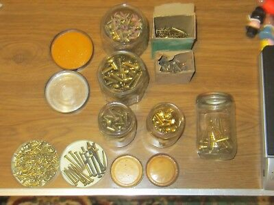 Big Lot Of 7 Lb. Of  Vintage Brass  Screws. -- Nuts -- Bolts