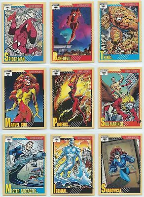 1991 Impel Marvel Universe Series 2 II  Base Card You Pick, Finish Your Set