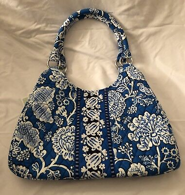 723a3572547c VERA BRADLEY MIDNIGHT Blue Large Duffel Retired! New With Tags ...
