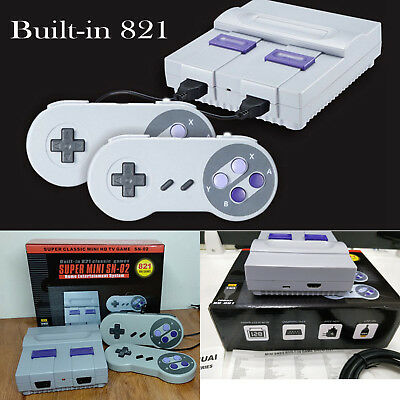 Super Mini HDMI 8-bit Built-in 821 Retro Video Game Console with 2 Controller