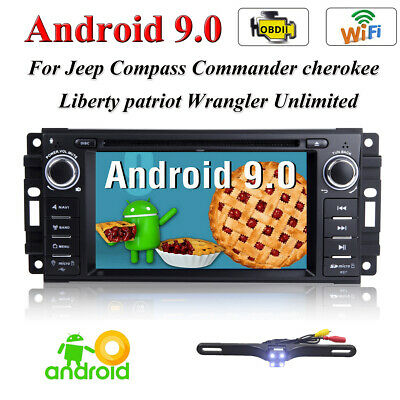 Android 8.1 Car Stereo Radio DVD Player GPS fr Jeep Wrangler Unlimited 2007-2016