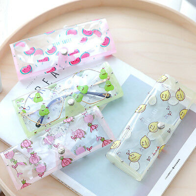 Cartoon Elephant Fruit Clear Eyeglass Protector Box Glasses Case Pouch Bag New
