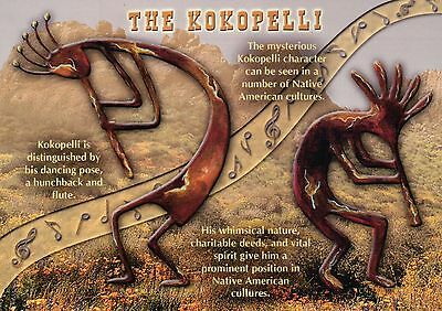 The Kokopelli Native American Indian Fertility Deity, Rock Art Pottery, Postcard