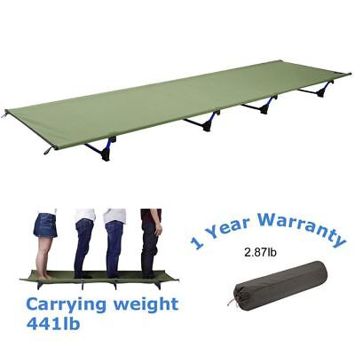 Folding Camping Bed Portable Cot Military Outdoor Hiking Travel Sleeping Bed BA