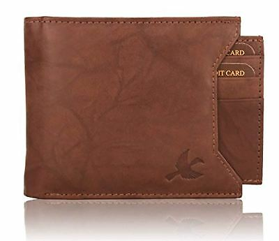 Men's Washed Brown Rigohill RFID Blocking Leather Wallet