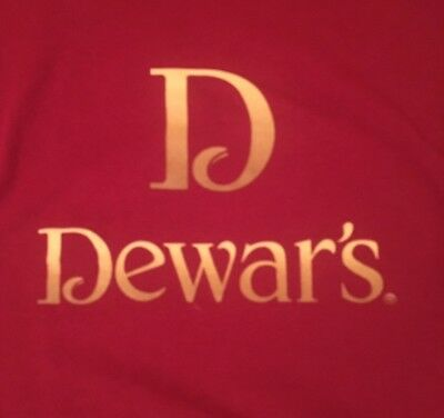 Dewar'S Blended Scotch Whiskey Large Maroon Graphic T-Shirt Fast Free Shipping