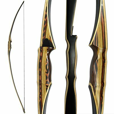 """Scorpion Traditional Hunting Long Bow 68"""" longbow Right Handed 25-60lbs"""