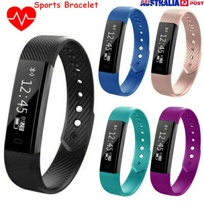 Sports Bracelet Tracker Smart Fitness Watch Heart Rate Monitor Fit Sleep Bit New