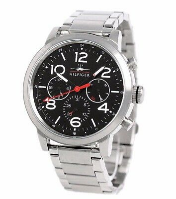 b5f63792 NIB Tommy Hilfiger Men's 1791234 Jake Analog Display Quartz Silver Watch