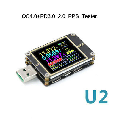 WEB-U2 USB Current Voltage Meter QC4+ PD3.0 2.0 PPS Fast Charge Protocol Tester