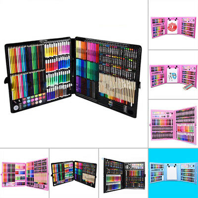 Complete Paint Drawing Art Kit Wooden Box Set Storage Case 168/288/176pcs/Set
