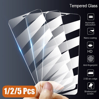 10/2/5 Pcs Clear Tempered Glass Screen Protector For iPhone XS Max XR X 8 7 Plus