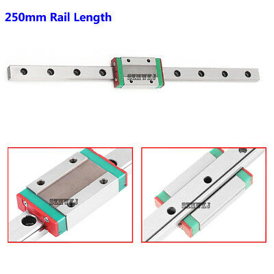 MGN12H Mini Steel Linear Sliding Miniature Guide Block CNC DIY-250mm Rail Length