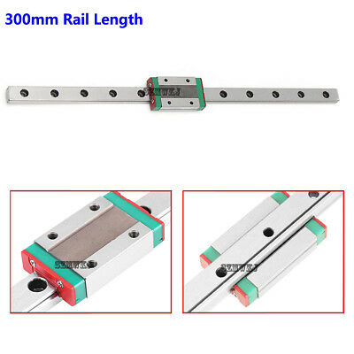 MGN12H Mini Steel Linear Sliding Miniature Guide Block CNC DIY-300mm Rail Length