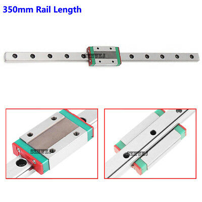 MGN12H Mini Steel Linear Sliding Miniature Guide Block CNC DIY-350mm Rail Length