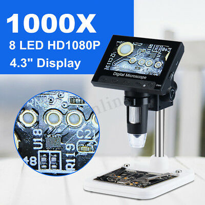 "4.3"" 1000X2.0Mp Microscopio Lcd Digitale Display 1080P Elettronico Usb Carica"