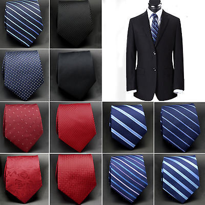 Classic Mens Silk Tie Necktie Set 32 Colors Jacquard Woven Hot ON SALE Wedding