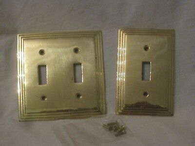 2 solid metal light switch plate covers single & double switchplate cover +