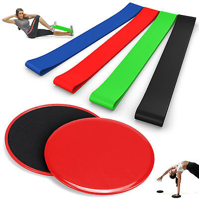Professional Gliding Discs & Resistance Loop Exercise Bands Pull Up Band