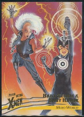 1996 X-Men Ultra Wolverine Trading Card #61 Baby Storm & Baby Havok