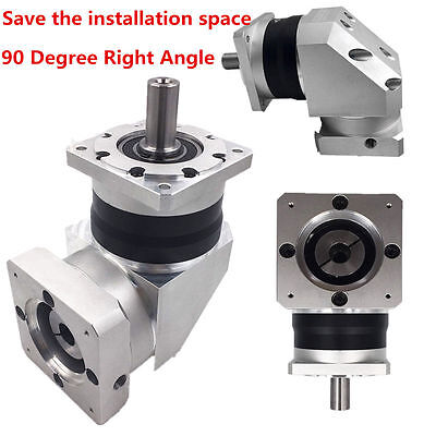 Ratio 10:1 Right Angle Planetary Gear Speed Reducer 16mm Input for NEMA34 Motor