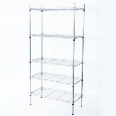 New 5 Layer Wire Metal Unit Commercial Heavy Duty Storage Shelf Shelving Rack