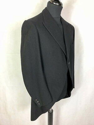 CULT VINTAGE '30 WWI Cappotto Giacca Frac Tait Smoking Tuxedo Man Coat Sz.M - 48