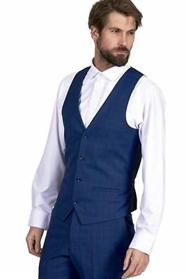 3e72650879aa Mens Marc Darcy Check Waistcoat Smart Formal Business Work Single Breasted  Vest