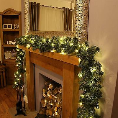 9ft Christmas Garland String Fairy Lights Fireplace Tree Decoration