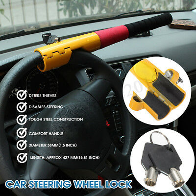 Heavy Duty Baseball Bat Anti Lock Steering Wheel Lock Car Van Vehicle Security